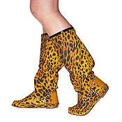 Обувь ручной работы. Ярмарка Мастеров - ручная работа Летние сапоги / леопардовые /39 размер в наличие. Handmade.