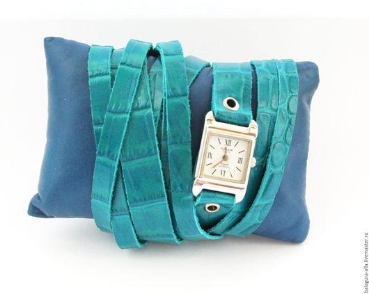 """Часы ручной работы. Ярмарка Мастеров - ручная работа. Купить Часы-браслет """"Отпуск"""". Handmade. Бирюзовый, часы на заказ, клатч"""
