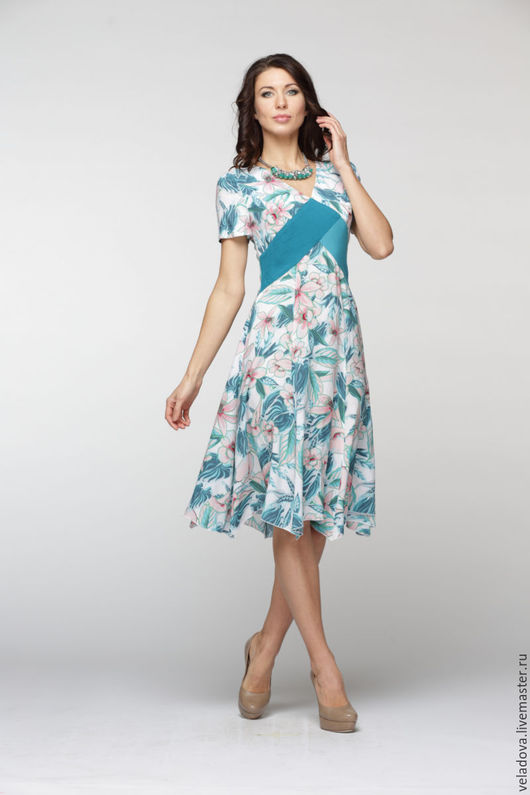 """Платья ручной работы. Ярмарка Мастеров - ручная работа. Купить Платье из вискозы """"Лила"""". Handmade. Цветочный, платье, платье из вискозы"""