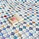 Лоскутное покрывало `На море` . Основные цвета - Белый, синий, голубой, бежевый.  Фото. Автор Lady Olga