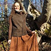 """Одежда handmade. Livemaster - original item Skirt """"Milk chocolate"""". Handmade."""
