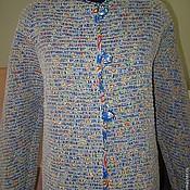 Одежда ручной работы. Ярмарка Мастеров - ручная работа Жакет в технике ручного ткачества ЖТ-035 синий. Handmade.