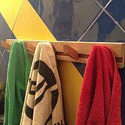 Для дома и интерьера handmade. Livemaster - original item Towel rack with wooden hooks. Handmade.