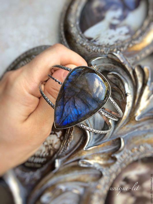Браслеты ручной работы. Ярмарка Мастеров - ручная работа. Купить Браслет с синим Лабрадоритом. Handmade. Лабрадорит браслет, синий камень
