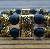 Украшения ручной работы. Ярмарка Мастеров - ручная работа Двухрядный браслет из шунгита. Handmade.