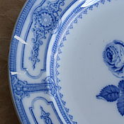 Винтаж handmade. Livemaster - original item Large vintage plate chipped. Handmade.