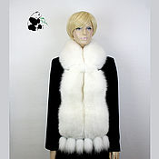 Аксессуары handmade. Livemaster - original item Luxury fur scarf boa made of Finnish white Fox fur.. Handmade.