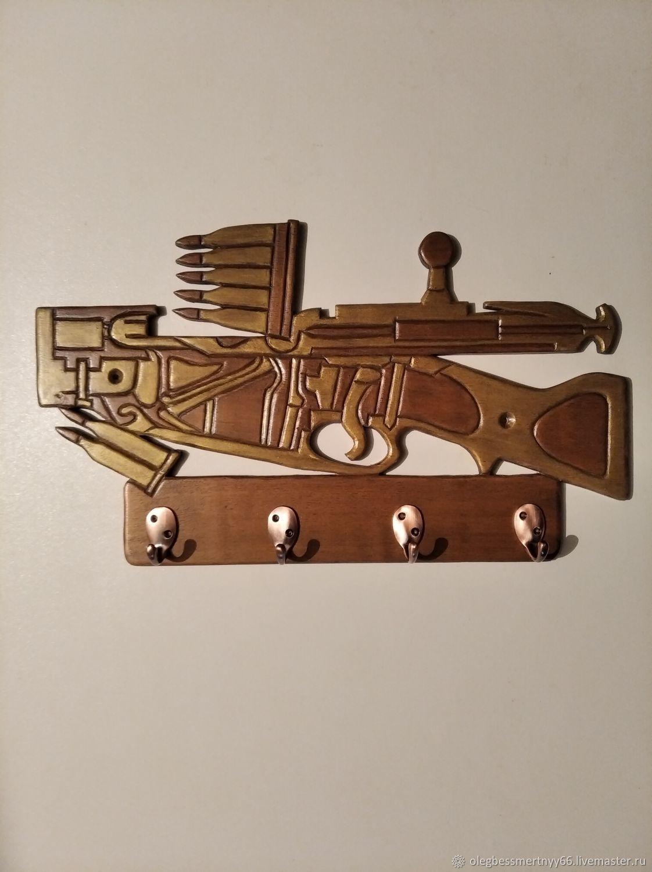 Винтовка в разрезе, Ключницы настенные, Железноводск,  Фото №1