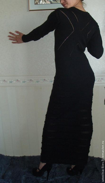 платье вязаное черное вечернее