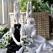 Куклы и игрушки handmade. Livemaster - original item Wedding bunnies. Married men. Handmade.