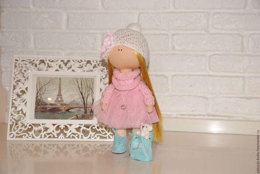 Куклы тыквоголовки ручной работы. Ярмарка Мастеров - ручная работа. Купить Кукла Тыквоголовка Анюта. Handmade. Розовый, текстильная кукла