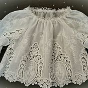 Работы для детей, handmade. Livemaster - original item Lace tunic. Handmade.
