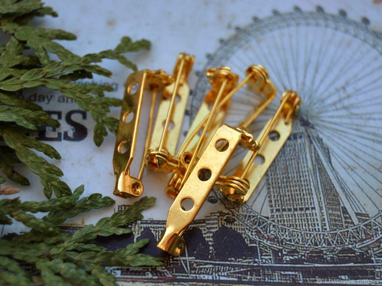 Основы для броши 27х5х7 мм Золото, Заготовки для украшений, Ставрополь,  Фото №1
