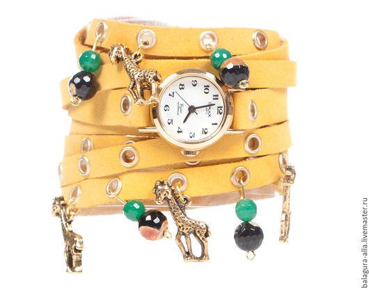 """Часы ручной работы. Ярмарка Мастеров - ручная работа. Купить Часы """"Лето"""". Handmade. Желтый, часы-браслет, часы с ремешком"""
