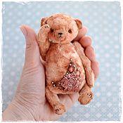 Куклы и игрушки ручной работы. Ярмарка Мастеров - ручная работа Плюшевый мишка тедди с вышивкой. Handmade.