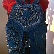 """Рюкзаки ручной работы. Ярмарка Мастеров - ручная работа Рюкзак джинсовый """"Patchwork denim"""". Handmade."""