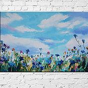 Картины и панно handmade. Livemaster - original item Oil painting on canvas Flower meadow 40/60 cm. Handmade.