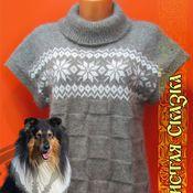 Одежда ручной работы. Ярмарка Мастеров - ручная работа Жилетка из собачьей шерсти. Handmade.