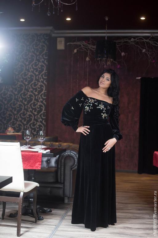 Платья ручной работы. Ярмарка Мастеров - ручная работа. Купить Для Вас! Роскошное вечернее платье из бархата,артикул4784. Handmade.