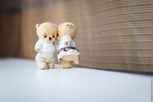 Влюбленные мишки Тедди от teddyanvi (Voobrazharium). Цена указана за одного мишку