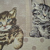 Для дома и интерьера handmade. Livemaster - original item Decorative pillow cover Kittens. Handmade.
