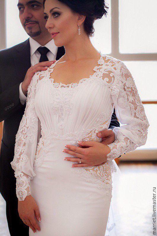Одежда и аксессуары ручной работы. Ярмарка Мастеров - ручная работа. Купить Свадебное платье Inna. Handmade. Белый, платье на заказ