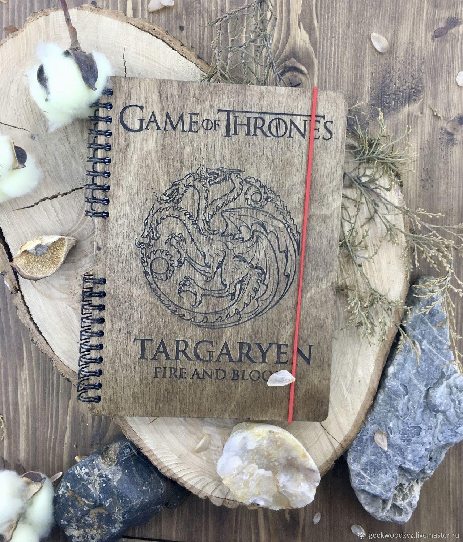 Game of Thrones/Large selection / Wooden Notepad / Sketchbook, Sketchbooks, Krasnodar,  Фото №1