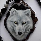 Украшения handmade. Livemaster - original item Polar wolf pendant and necklace.. Handmade.
