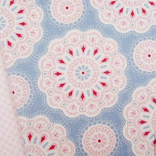 Шитье ручной работы. Ярмарка Мастеров - ручная работа. Купить Ткань Tilda Sweetheart Doilies, light blue. Handmade. Голубой