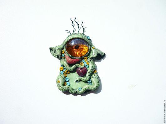 брошь `инопланетяшка Тодл` серия `Фантазийные броши`