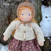 Куклы и игрушки ручной работы. Ярмарка Мастеров - ручная работа Анюта, вальдорфская кукла 40 см.. Handmade.