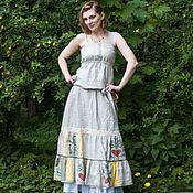 """Одежда ручной работы. Ярмарка Мастеров - ручная работа Льняная юбка """"Одуванчик"""". Handmade."""
