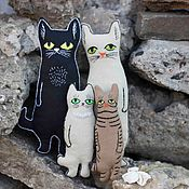 Мягкие игрушки ручной работы. Ярмарка Мастеров - ручная работа Коты семья. Handmade.