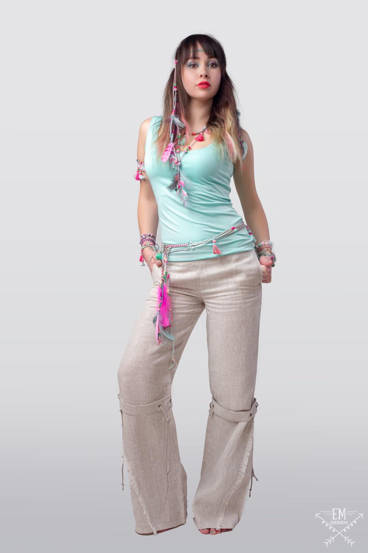 Летние льняные брюки, женские брюки изо льна в стиле Бохо, Этно, Эко, Брюки, Санкт-Петербург, Фото №1