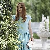 Одежда ручной работы. Ярмарка Мастеров - ручная работа Платье из плотного шелка Голубая мечта. Handmade.