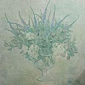 Картины и панно ручной работы. Ярмарка Мастеров - ручная работа Голубой букет. Handmade.