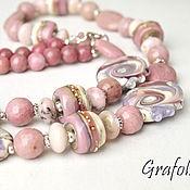 Украшения handmade. Livemaster - original item Long necklace of stones, Eldorado. Handmade.