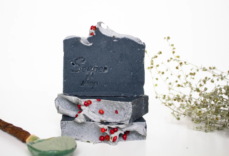 Натуральное мыло Чёрный уголь для проблемной кожи, Мыло, Новосибирск,  Фото №1