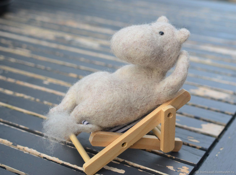Мечтательный Муми-тролль, Войлочная игрушка, Хейдельберг,  Фото №1