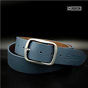 Аксессуары handmade. Livemaster - original item Belt grey-blue. Handmade.