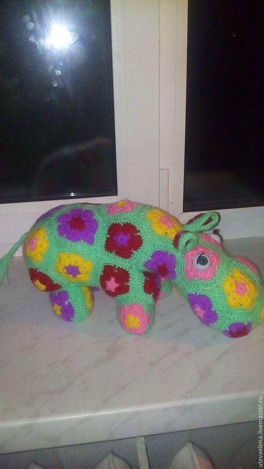 Игрушки животные, ручной работы. Ярмарка Мастеров - ручная работа. Купить Цветочный бегемот. Handmade. Комбинированный, африканский цветок, синтепон