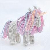 Куклы и игрушки ручной работы. Ярмарка Мастеров - ручная работа Белый единорог игрушка вязаная. Handmade.