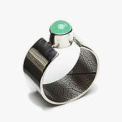 Украшения ручной работы. Ярмарка Мастеров - ручная работа Кольцо серебряное с хризопразом Март размер 17. Handmade.