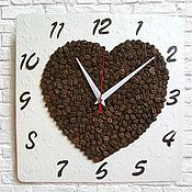 Для дома и интерьера handmade. Livemaster - original item Coffee bean clock kitchen