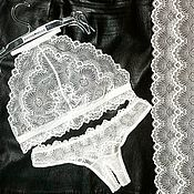 """Одежда ручной работы. Ярмарка Мастеров - ручная работа Комплект нижнего белья """"Cream"""" ручной работы. (без косточек). Handmade."""