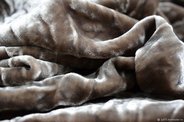 Бархат шелковый крэш, Италия, Материалы, Москва,  Фото №1