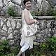 Платья ручной работы. Бохо-сарафан из вареного льна с шалью. Реелика (reelika44). Ярмарка Мастеров. Платье летнее, натуральные материалы