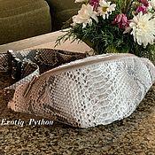 Сумки и аксессуары handmade. Livemaster - original item Waist bag leather Python. Handmade.