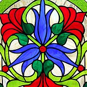 Для дома и интерьера handmade. Livemaster - original item Stained Glass Tiffany. stained glass window in the door. Floral stained glass window. Handmade.