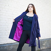 Одежда handmade. Livemaster - original item novelty - a light coat on the lining - purple. Handmade.